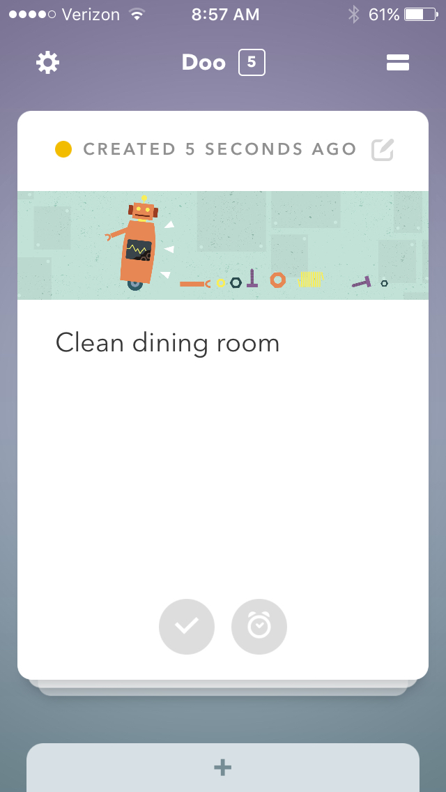 Doo Reminder: Clean dining room
