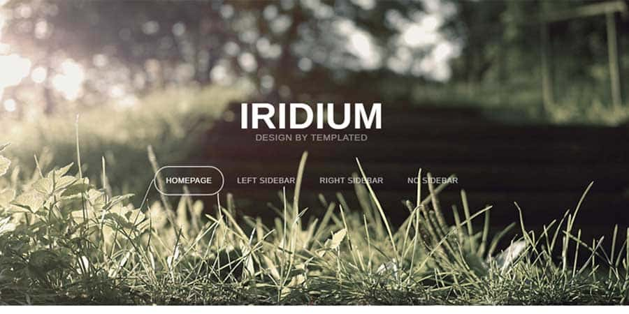 Iridium – Free Responsive Blog Template