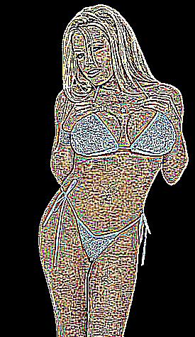 Fille gros seins