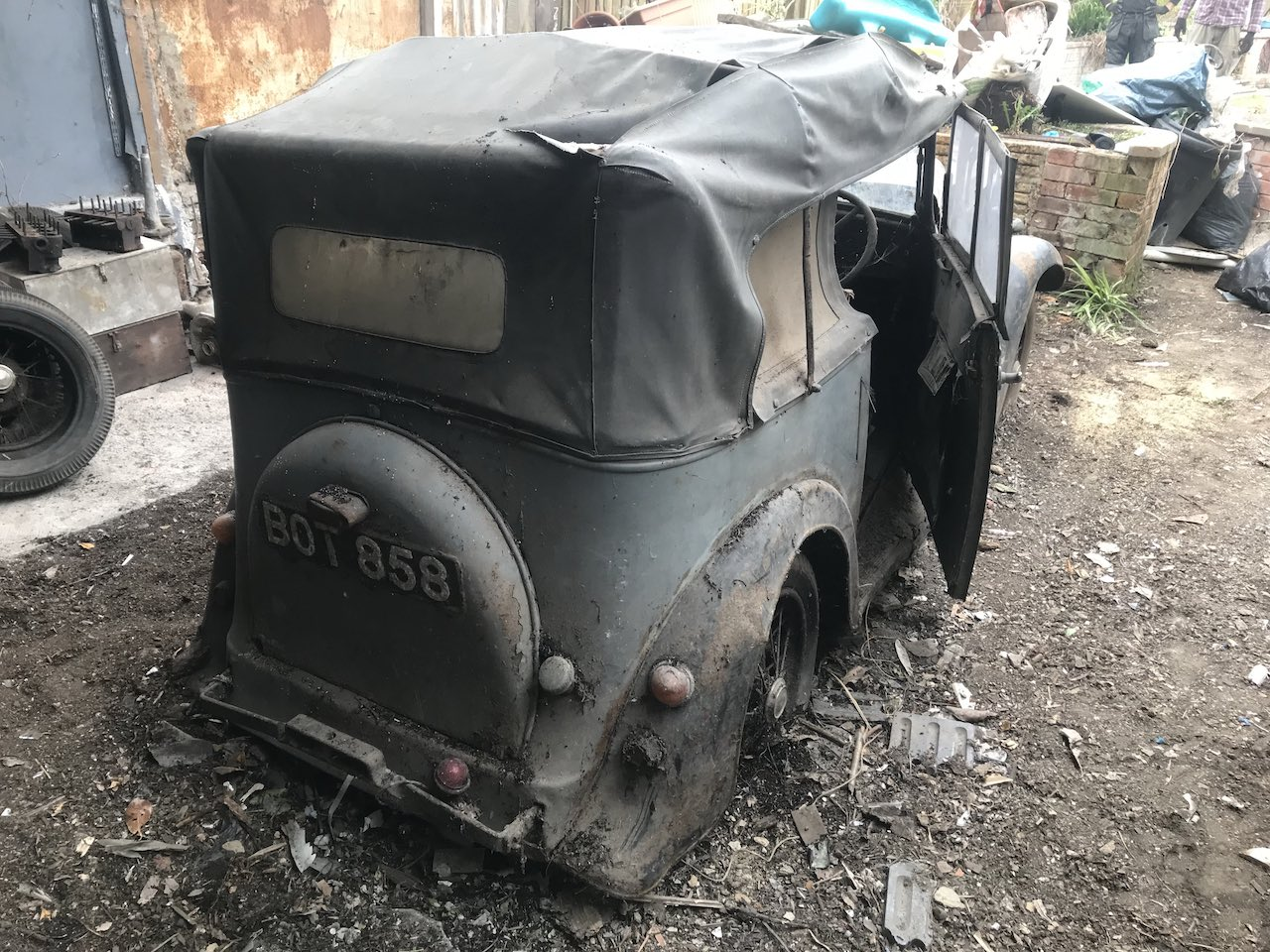 96 Club discovers 1936 Austin 7 Open Tourer in London shed