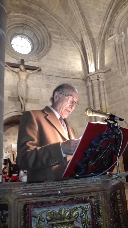 Juan Antonio Lóopez, en el púlpito
