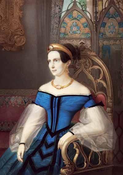 Gau V. Emperatriz Alexandra Feodirovna, Acuarela