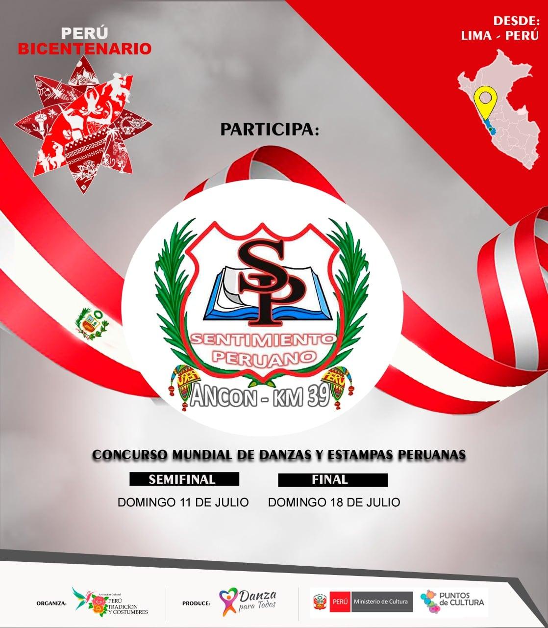 Concurso Mundial de Danzas y Estampas peruanas