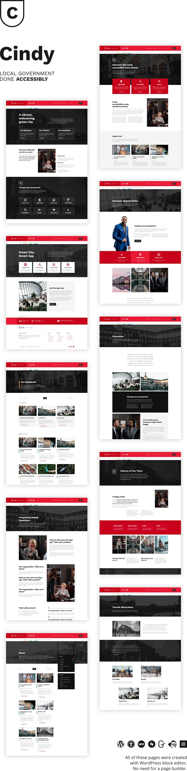 Cindy - Accessible Local Government WordPress Theme - 1