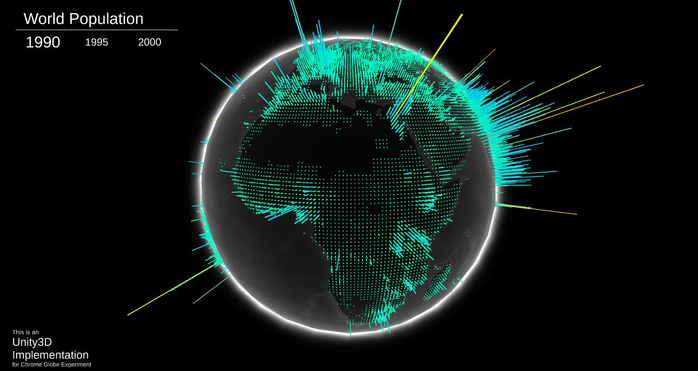 Unity3D Globe Screenshot