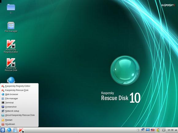 Kaspersky Resuce Disk 10 av shutdown