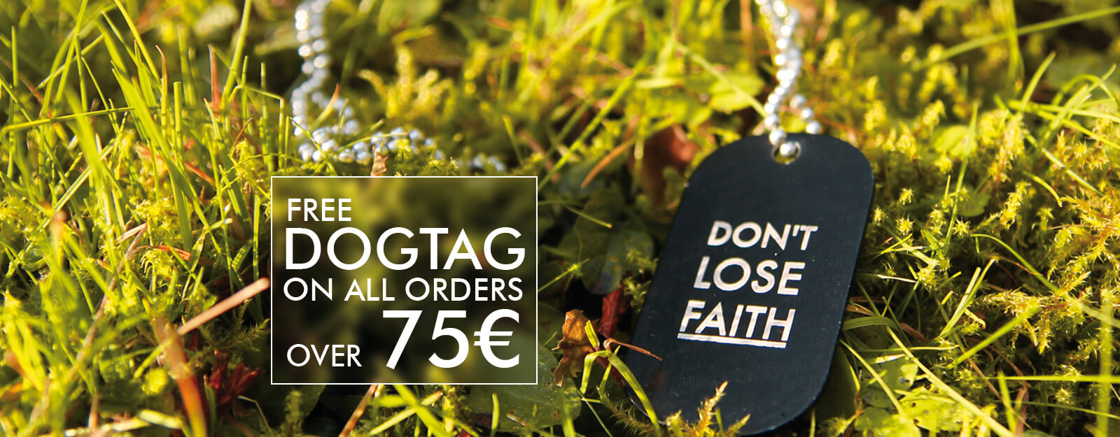 FREE DOGTAG MIND OVER MATTER. - Banner