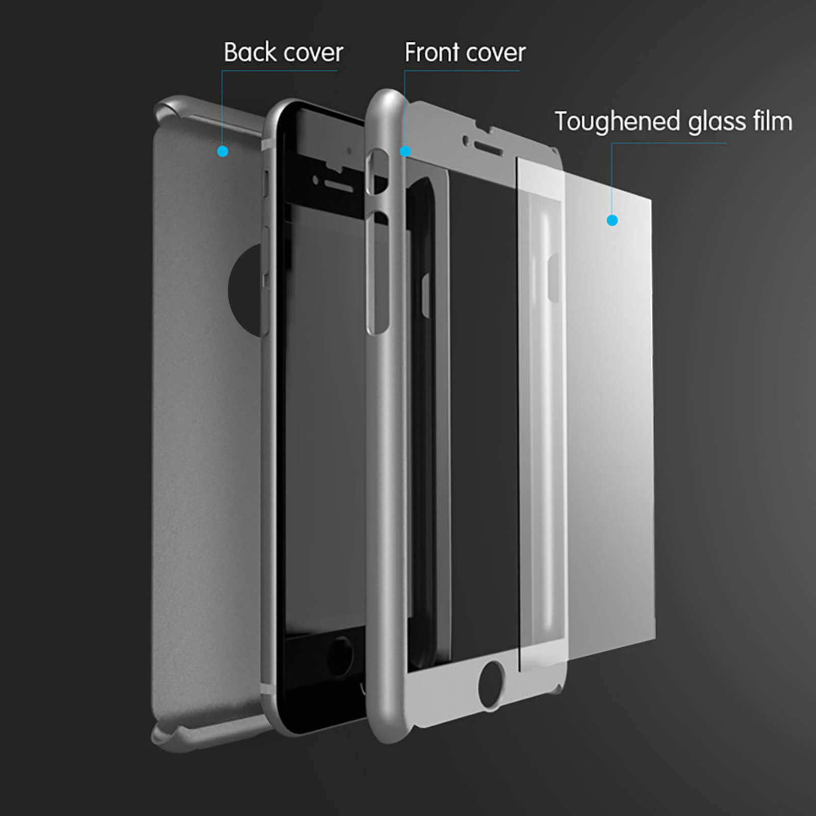 For-iPhone-8-Tough-Hybrid-Case-Hard-Front-Back-Shockproof-Heavy-Duty-360-Cover miniatuur 14