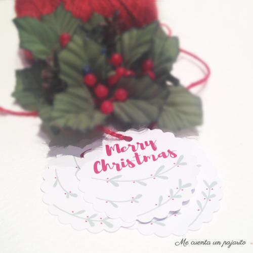 Etiquetas de Navidad, Merry Christmas