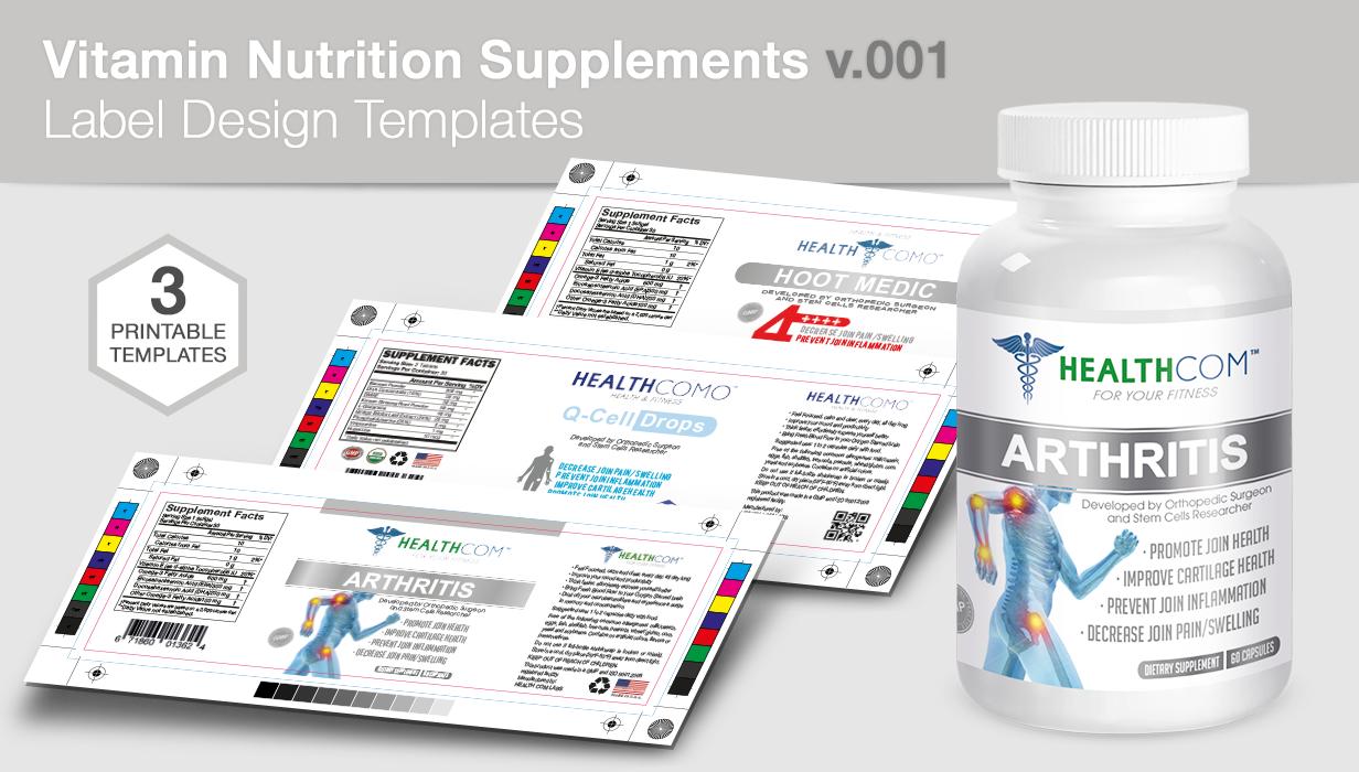 Bottle Nutrition Supplement Packaging Mock-Up - 2