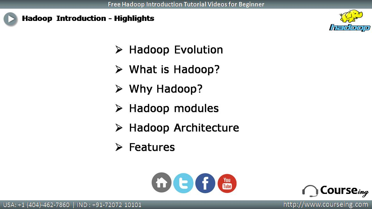 Free Hadoop Introduction