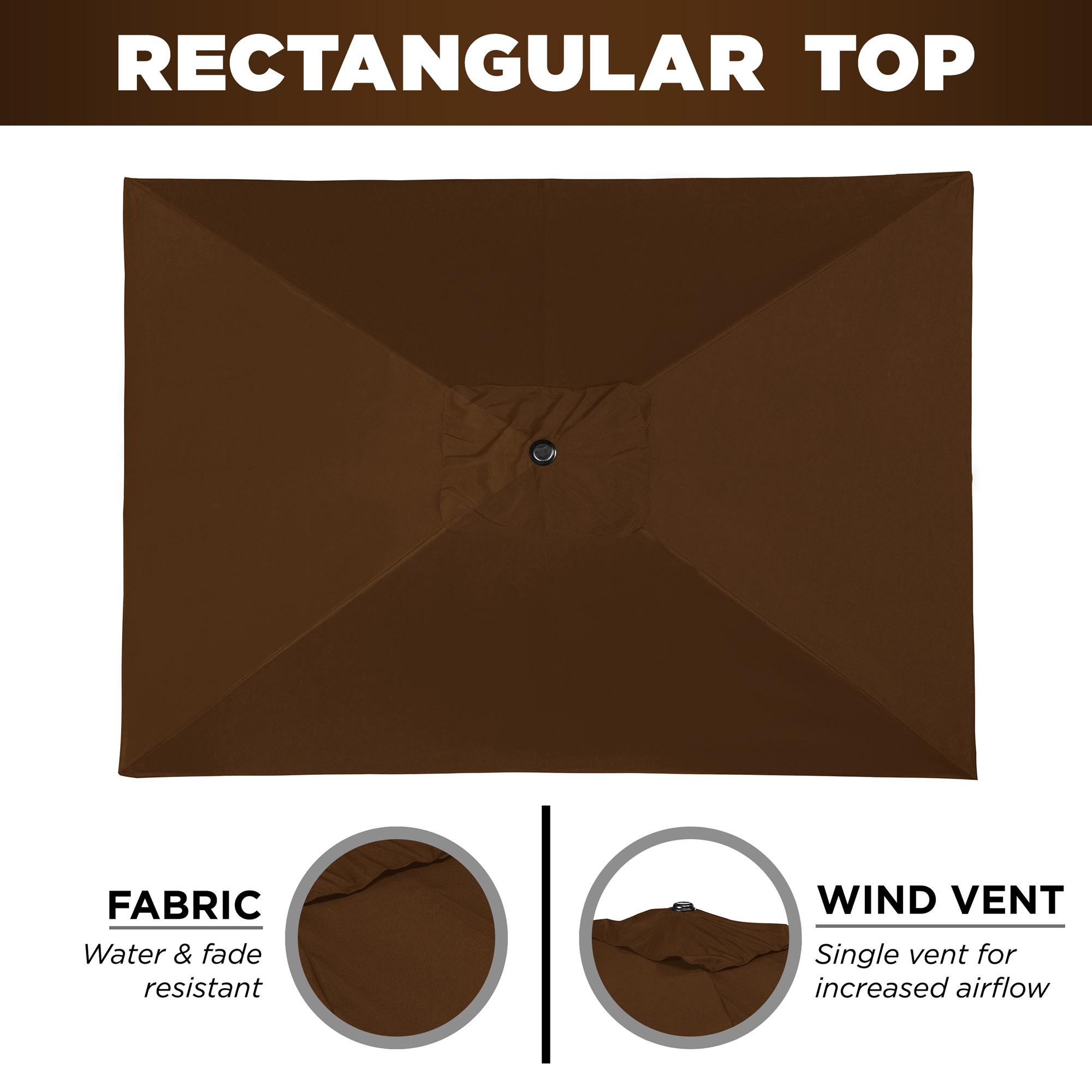 BCP-8x11ft-Rectangular-Patio-Umbrella-w-Easy-Crank-UV-Resistant-Fabric thumbnail 11
