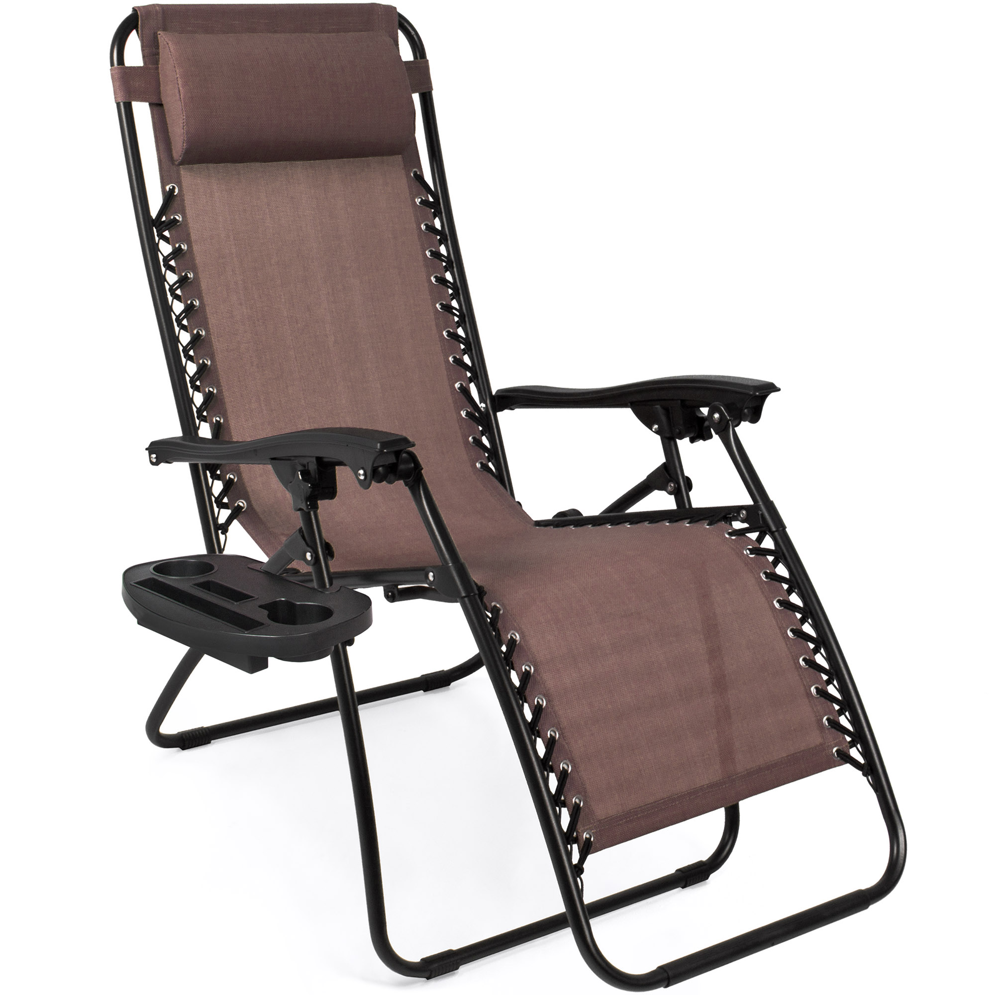 BCP-Set-of-2-Adjustable-Zero-Gravity-Patio-Chair-Recliners-w-Cup-Holders thumbnail 31