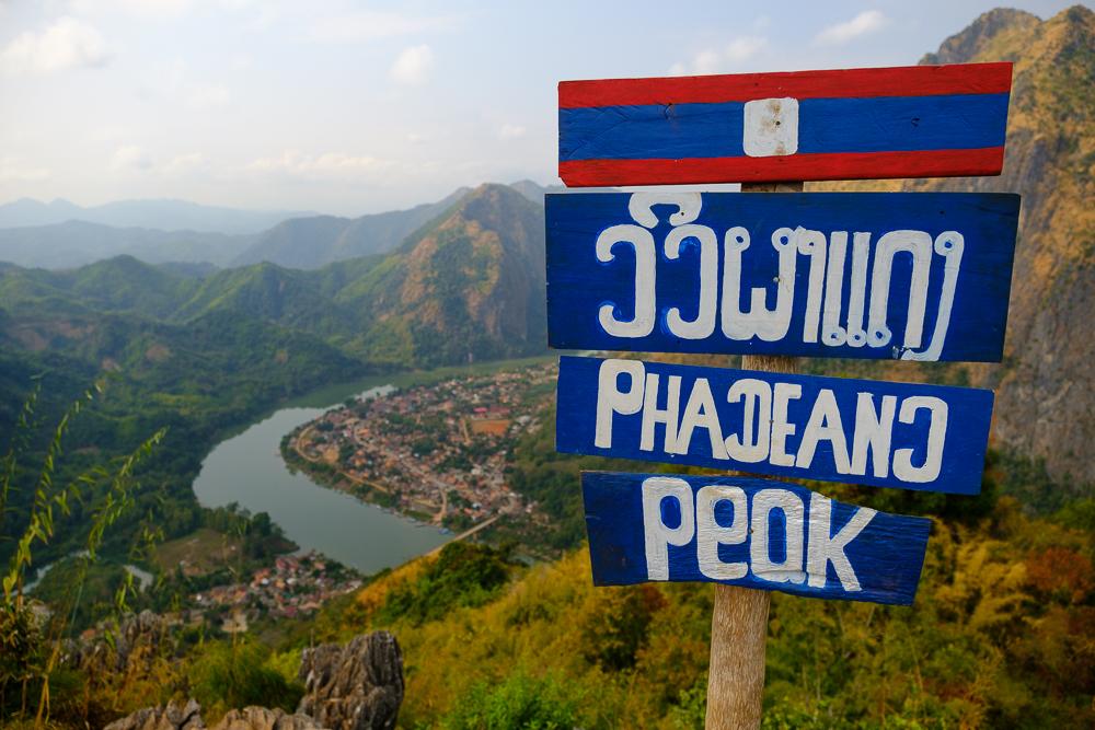 Uitzichtpunt in Nong Khiaw