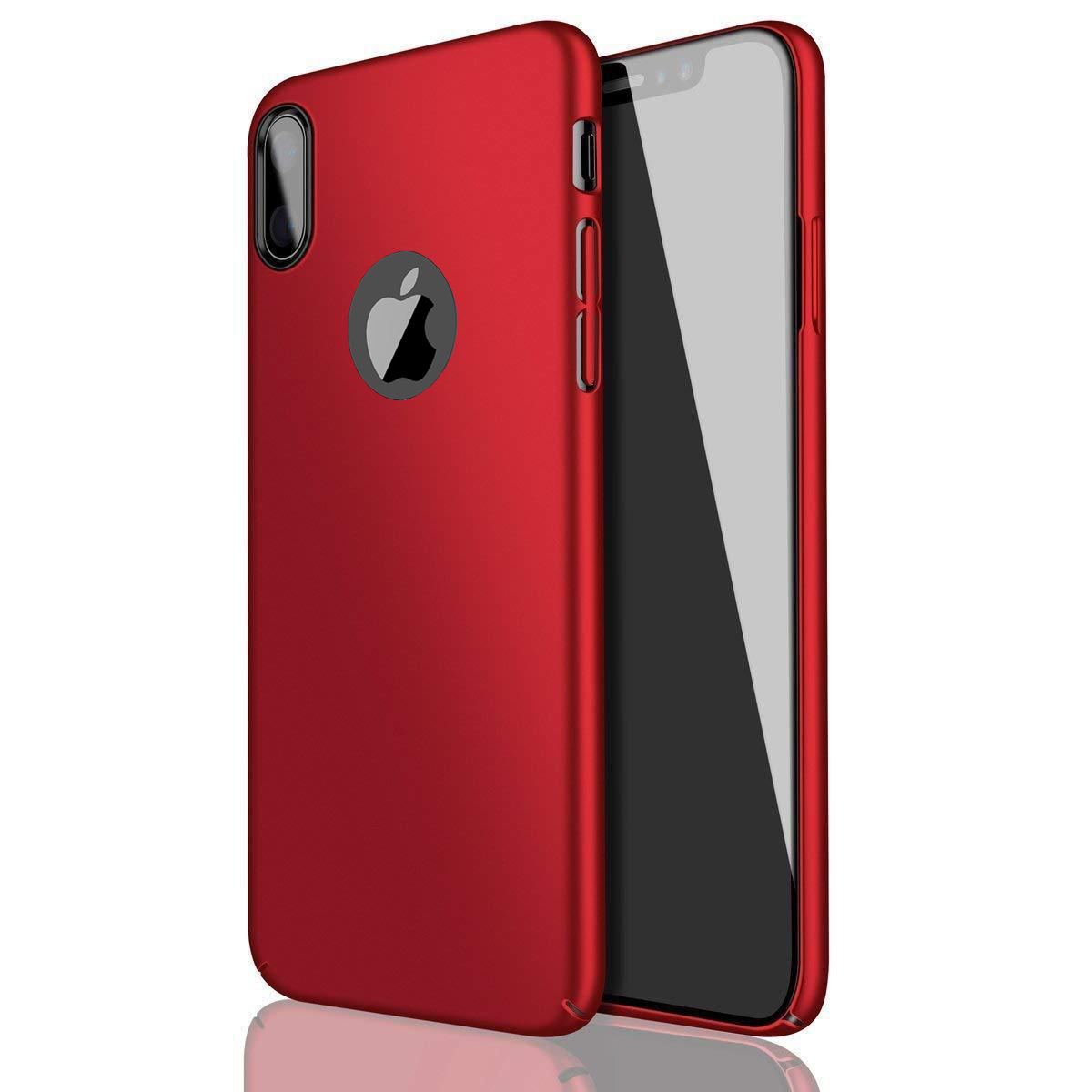 Thin-Slim-Hard-Case-Tempered-Glass-Cover-For-Apple-iPhone-X-XS-XR-Max-10-8-7-6s miniatuur 29