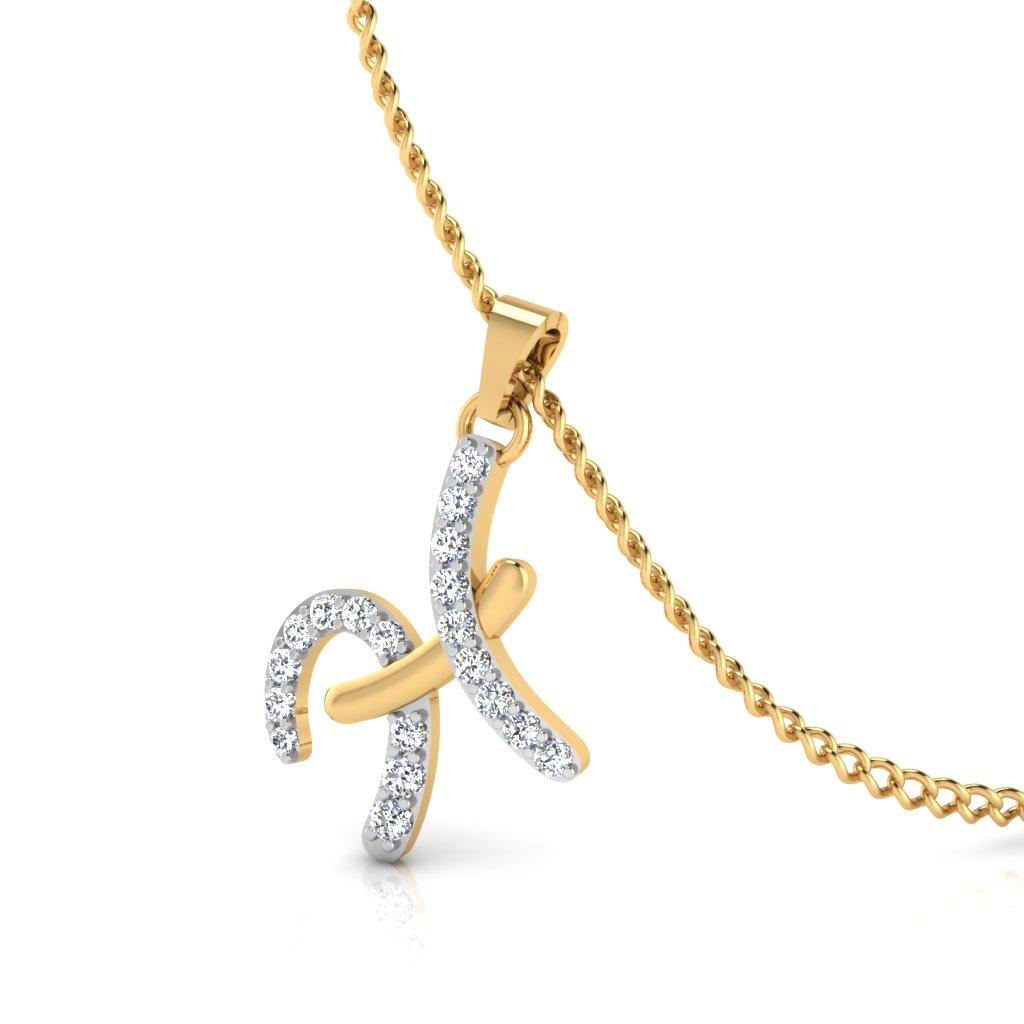 The H Designer Diamond Pendant