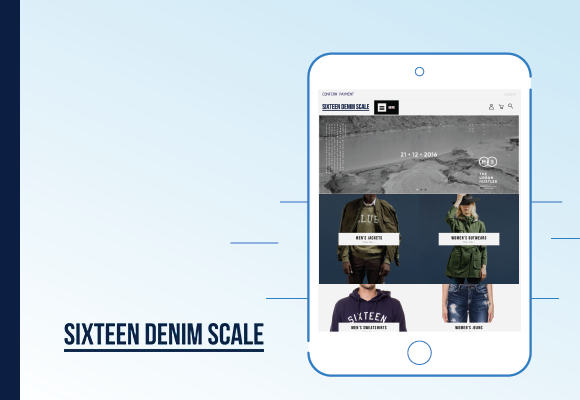 sixteen denim scale