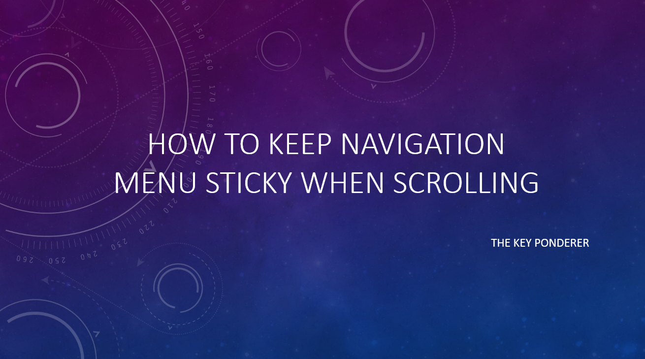 navigation menu on top sticky when scrolling webpage