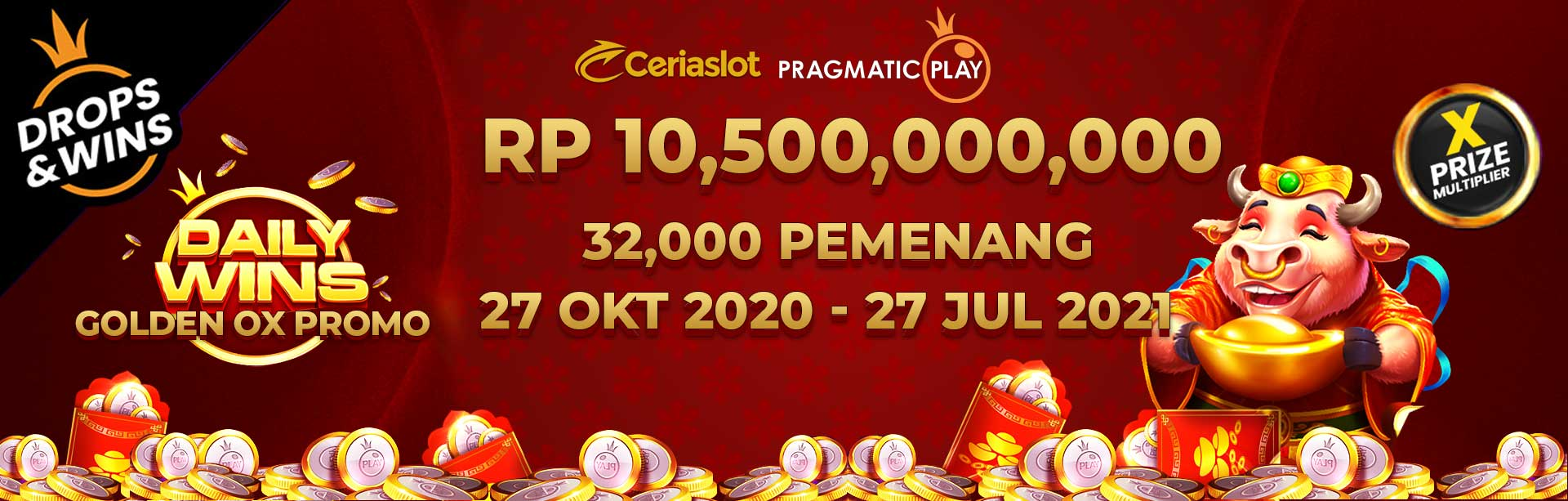 Daily Wins Golden OX Promo - CERIASLOT