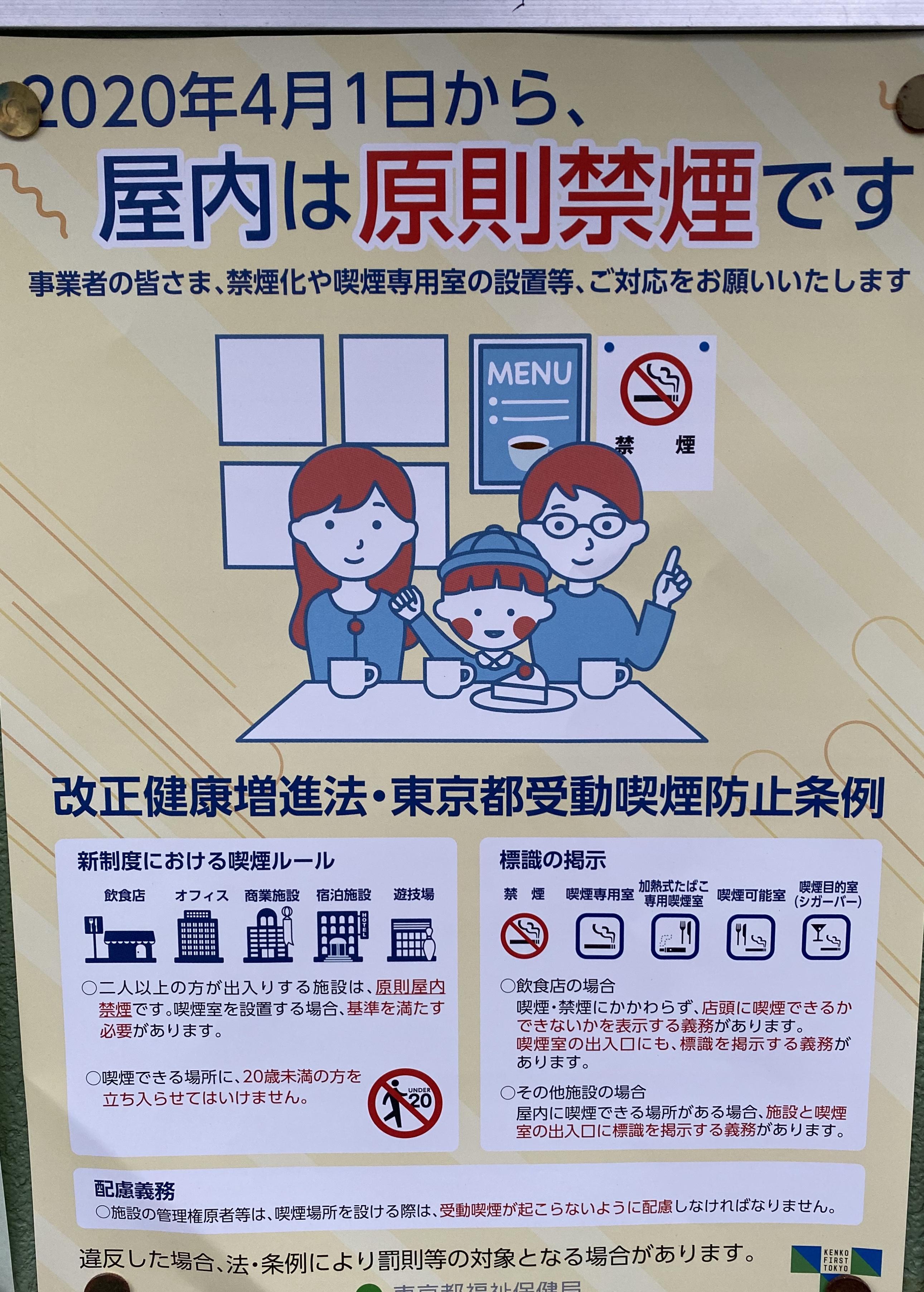 Tokyo bans smoking poster