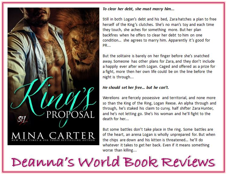 King's Proposal by Mina Carter blurb