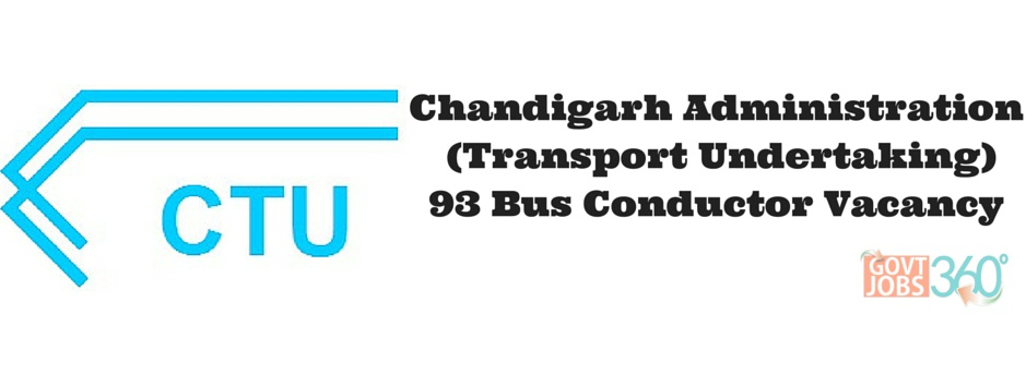 Chandigarh Administration (Transport Undertaking) jobs for Bus Conductor in Chandigarh