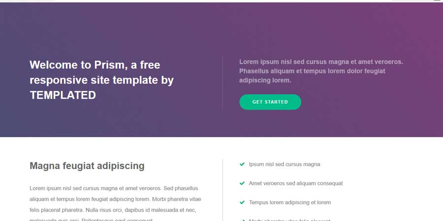 Prism – Free Responsive HTML Template