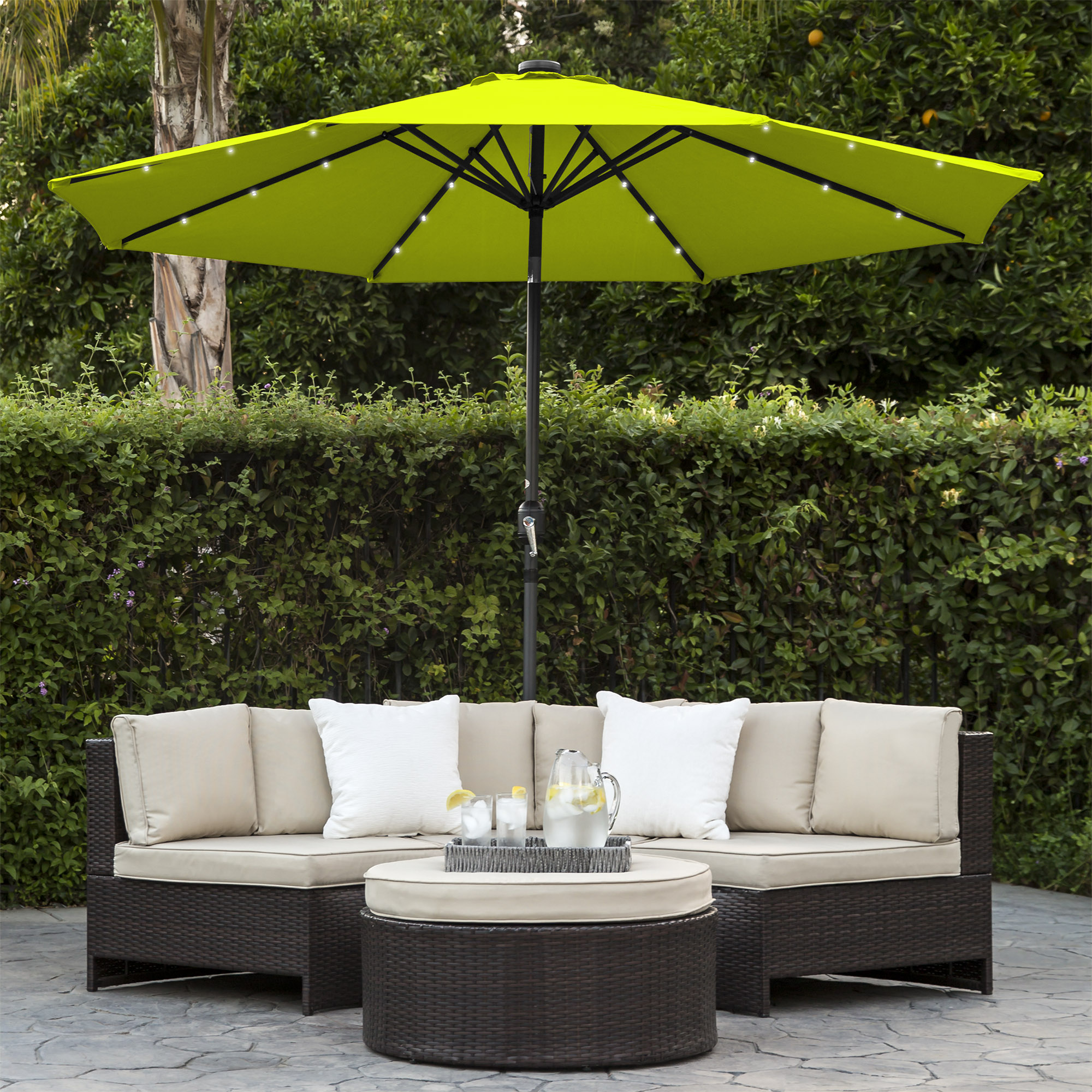 BCP-10ft-Solar-LED-Lighted-Patio-Umbrella-w-Tilt-Adjustment-Fade-Resistance thumbnail 37
