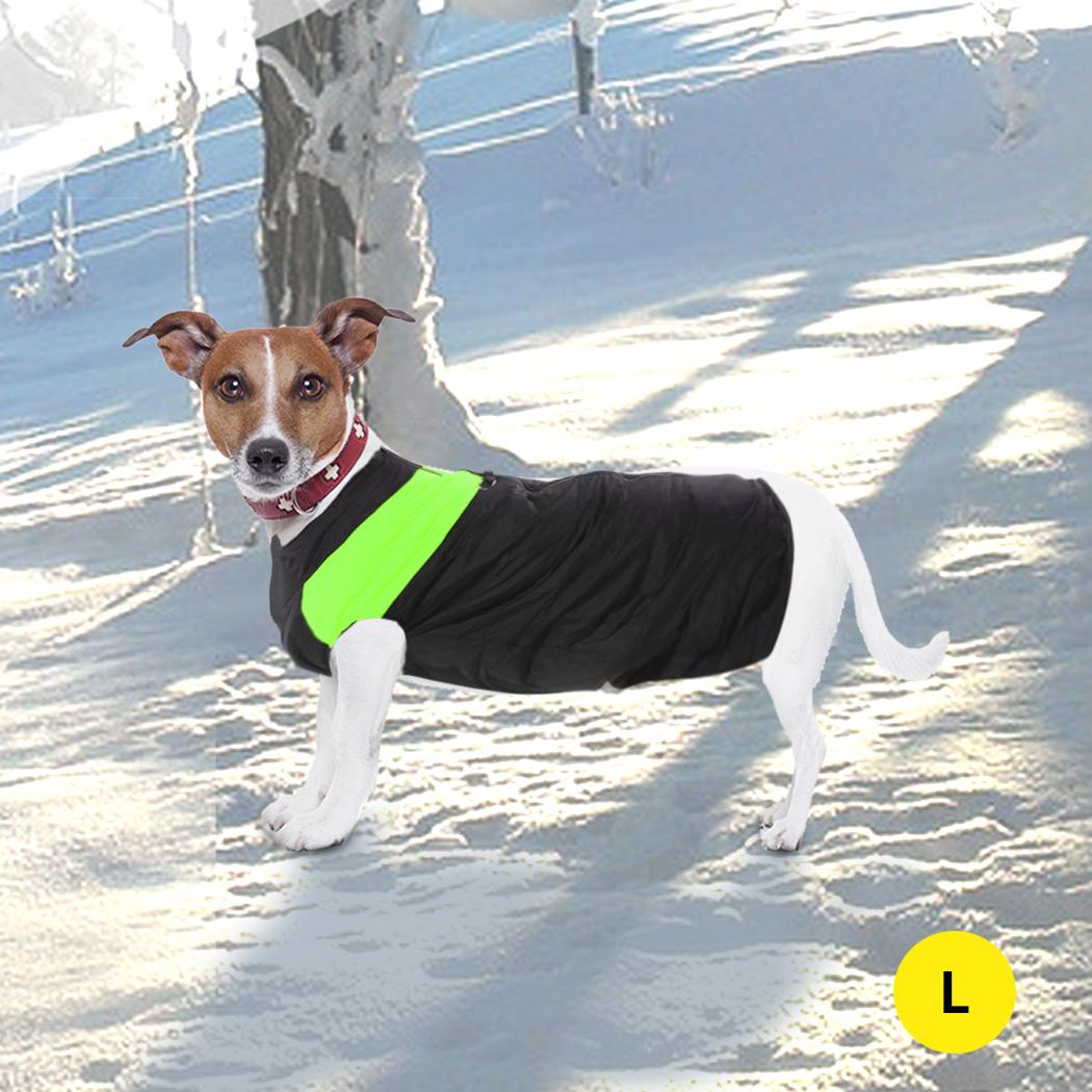 thumbnail 30 - PaWz Dog Jacket Large Pet Jackets Coat Waterproof Clothes Winter Vest Green