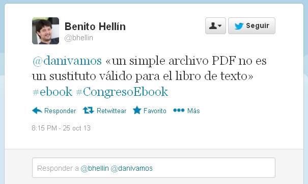 Un archivo PDF no es un sustituto para el libro de texto