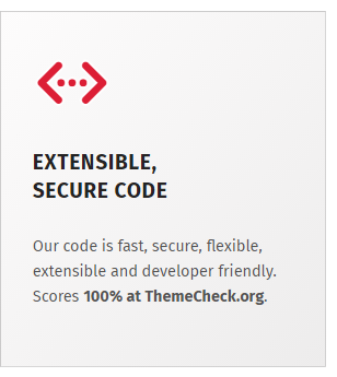 Developer-friendly, extensible and secure code