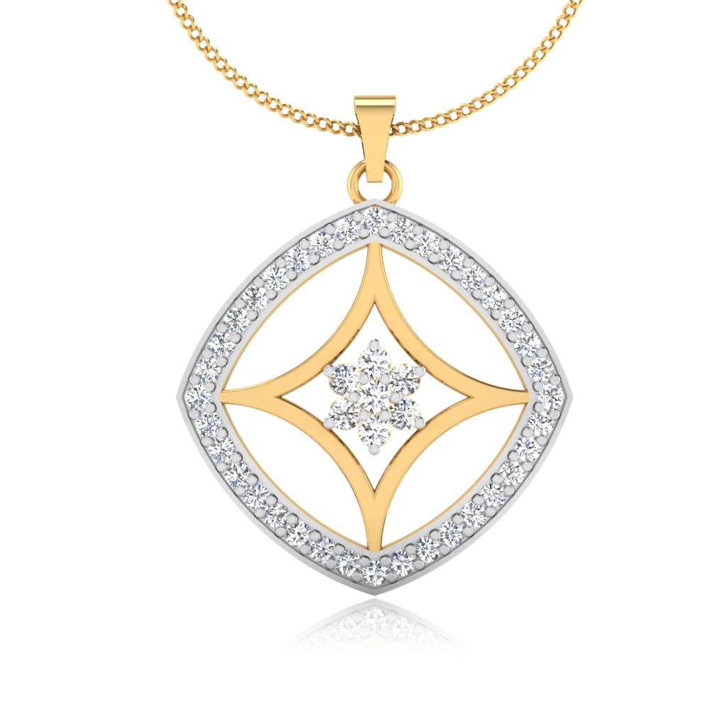The Waffer Diamond Pendant