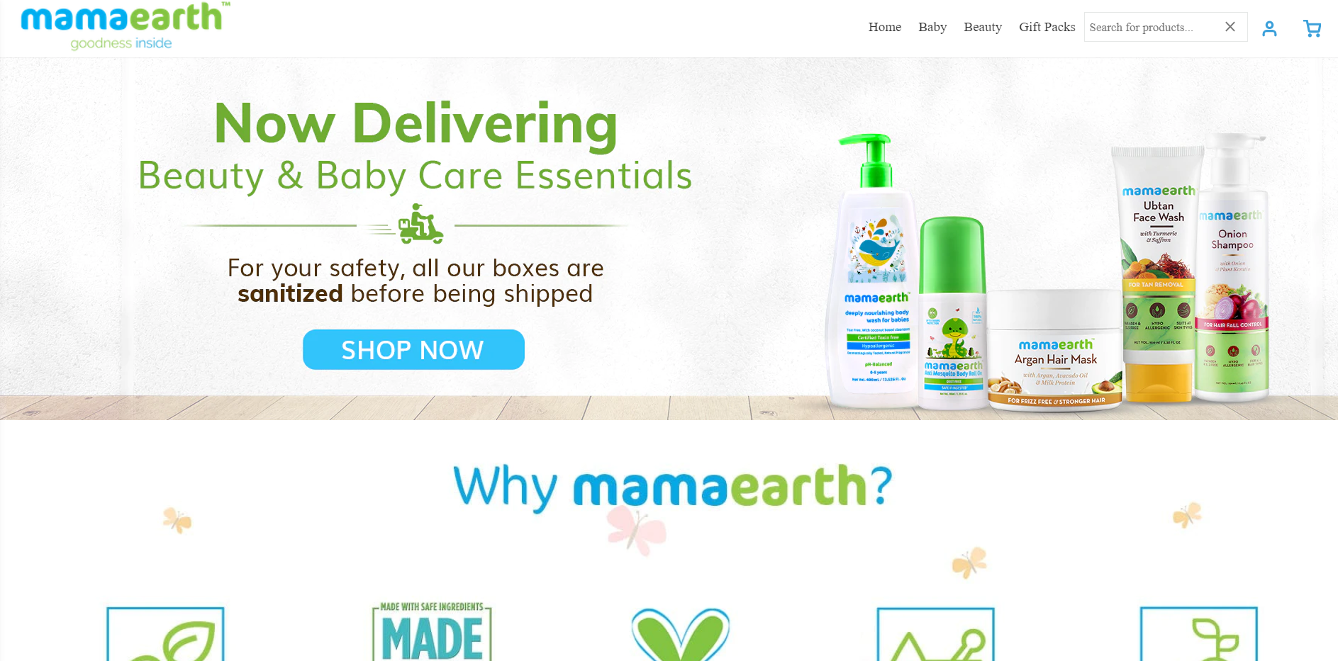 Mamaearth store