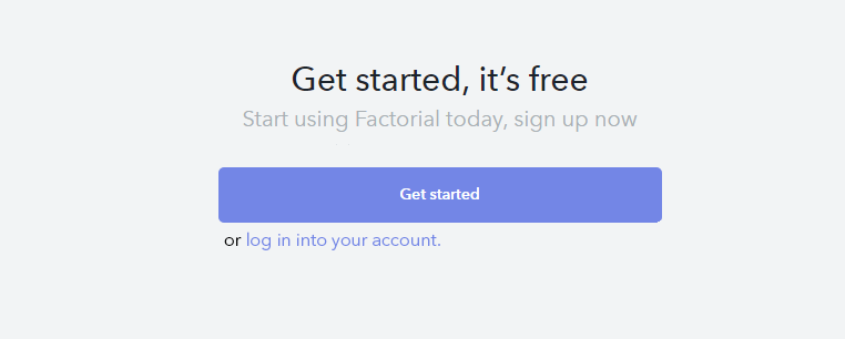Log in to Factorial