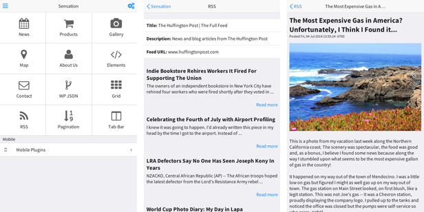 Sensation - PhoneGap / Cordova Full Hybrid App - 12