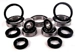 Combo-Pack! Front Wheel and Rear Axle Bearings and Seals Kits Honda TRX450R 2004-2009