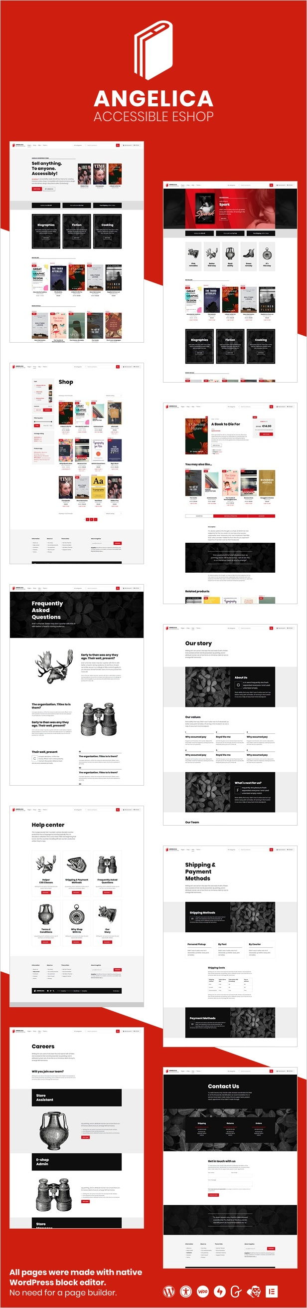 Angelica - Accessible Bookstore WordPress theme - 1