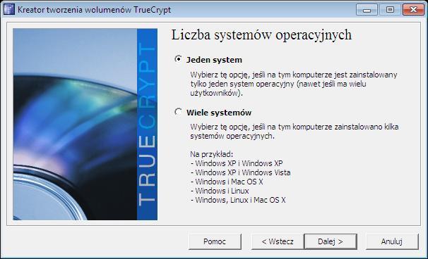 wybór systemu do zaszyfrowania TC