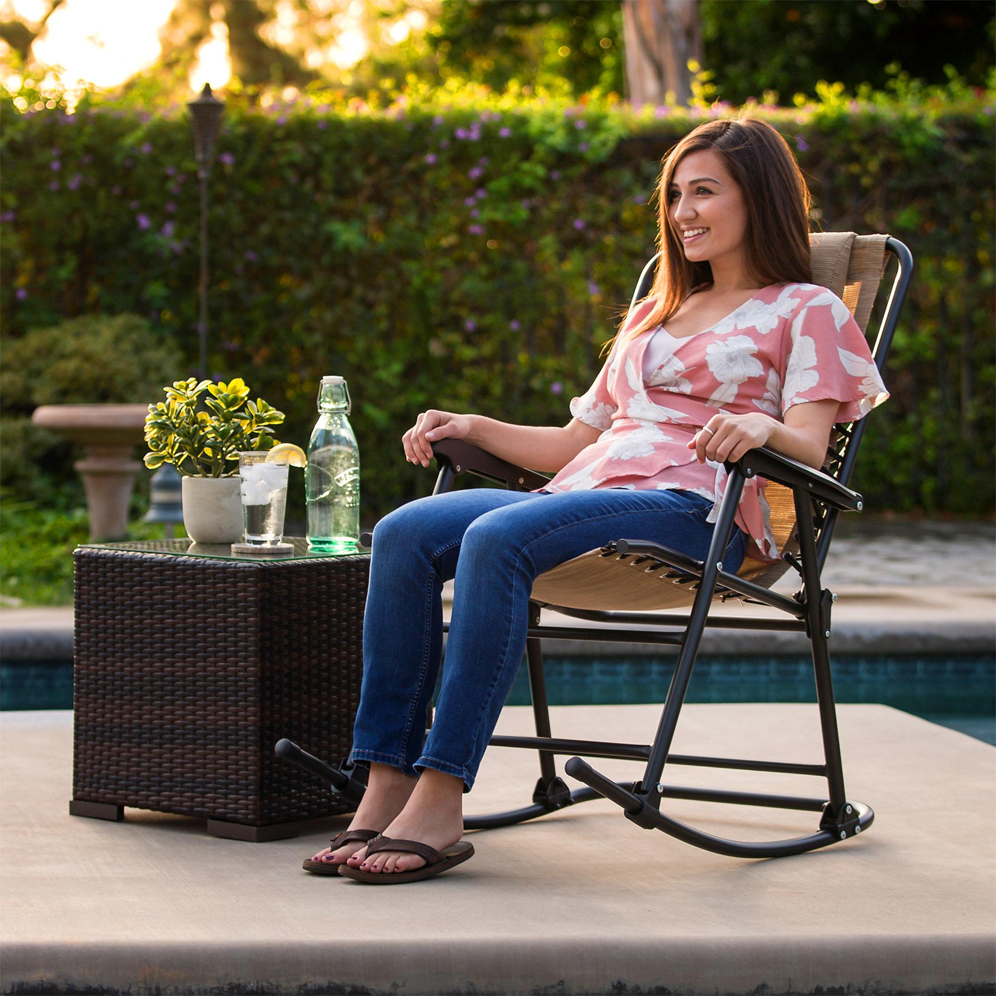 BCP-Foldable-Zero-Gravity-Patio-Rocking-Lounge-Chair thumbnail 9