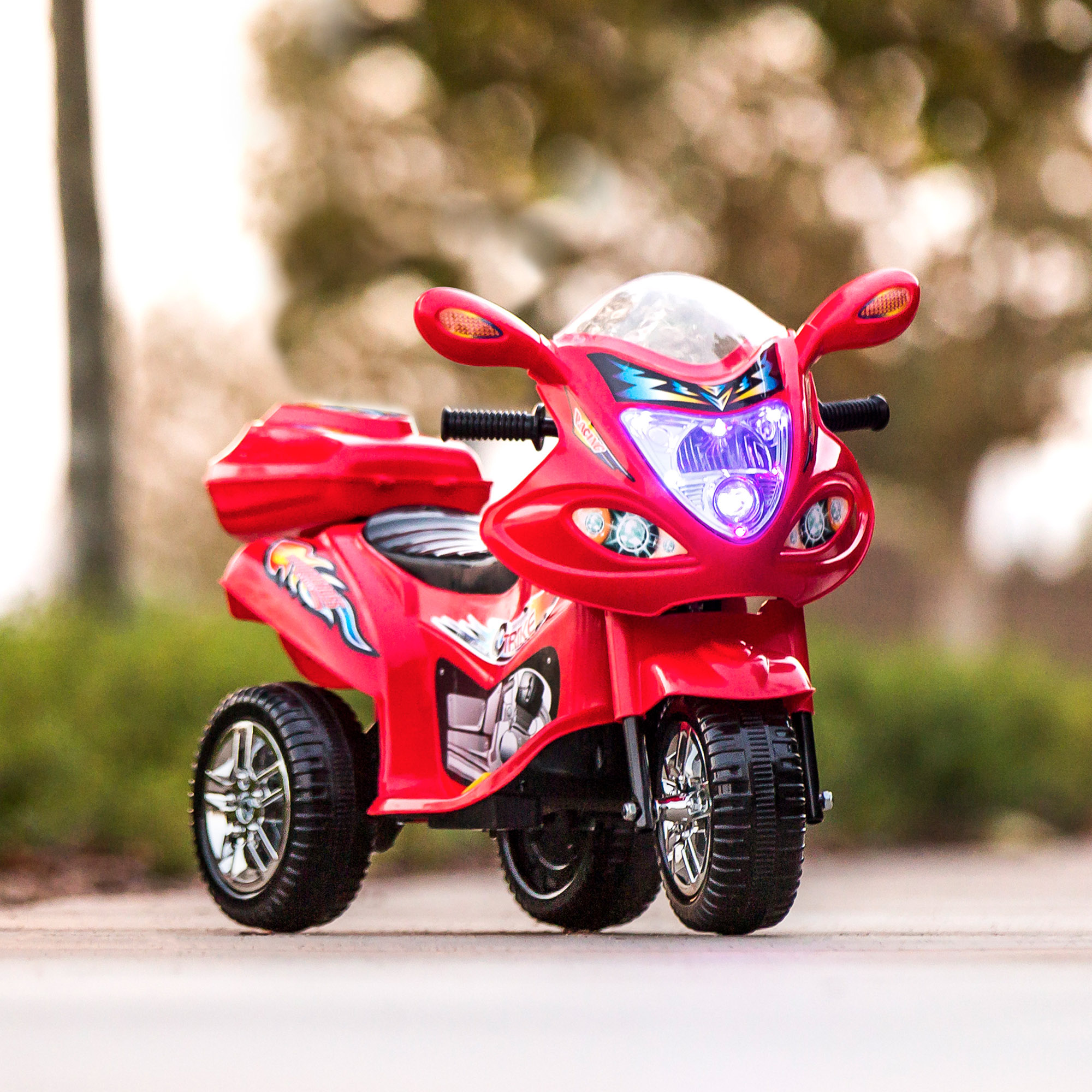 BCP-6V-Kids-3-Wheel-Motorcycle-Ride-On-Toy-w-LED-Lights-Music-Storage thumbnail 31