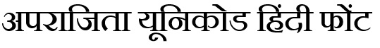 Download Aparajita Hindi Font