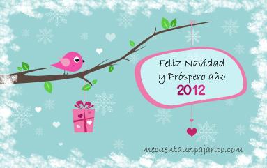 Felicitación de Navidad 2011, pajarito
