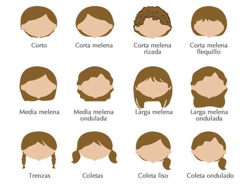 Cómo personalizar tu dibujo, tipo de pelo chicas