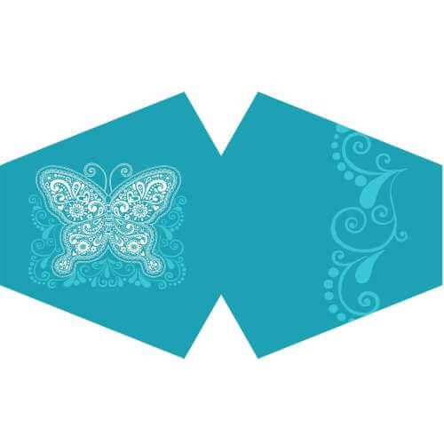 face mask - blue butterfly