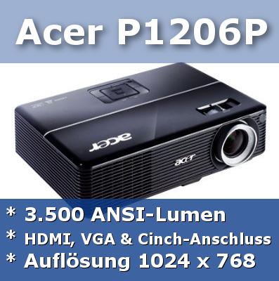 Hier gibt's mehr Infos zum Acer P1206P