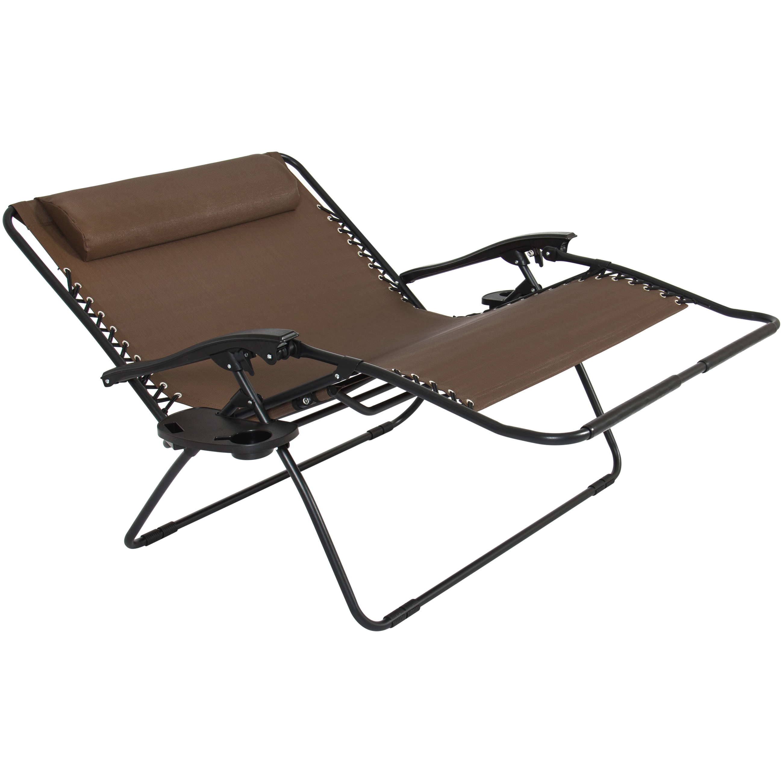 Folding 2 Person Oversized Zero Gravity Lounge Chair W 2