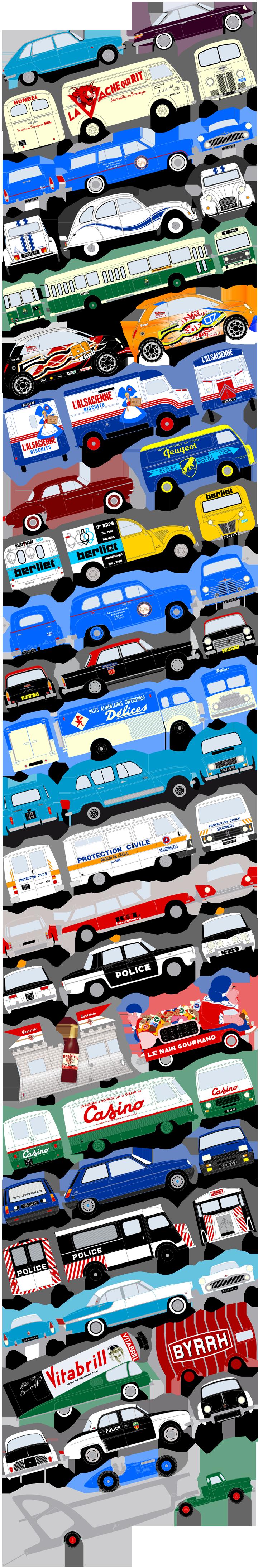 Artworks de véhicules (représentations de ceux-ci et de leurs décorations). Cliquez pour afficher en HD