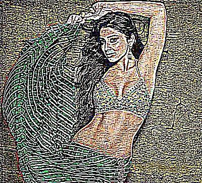 Femme qui excite un homme