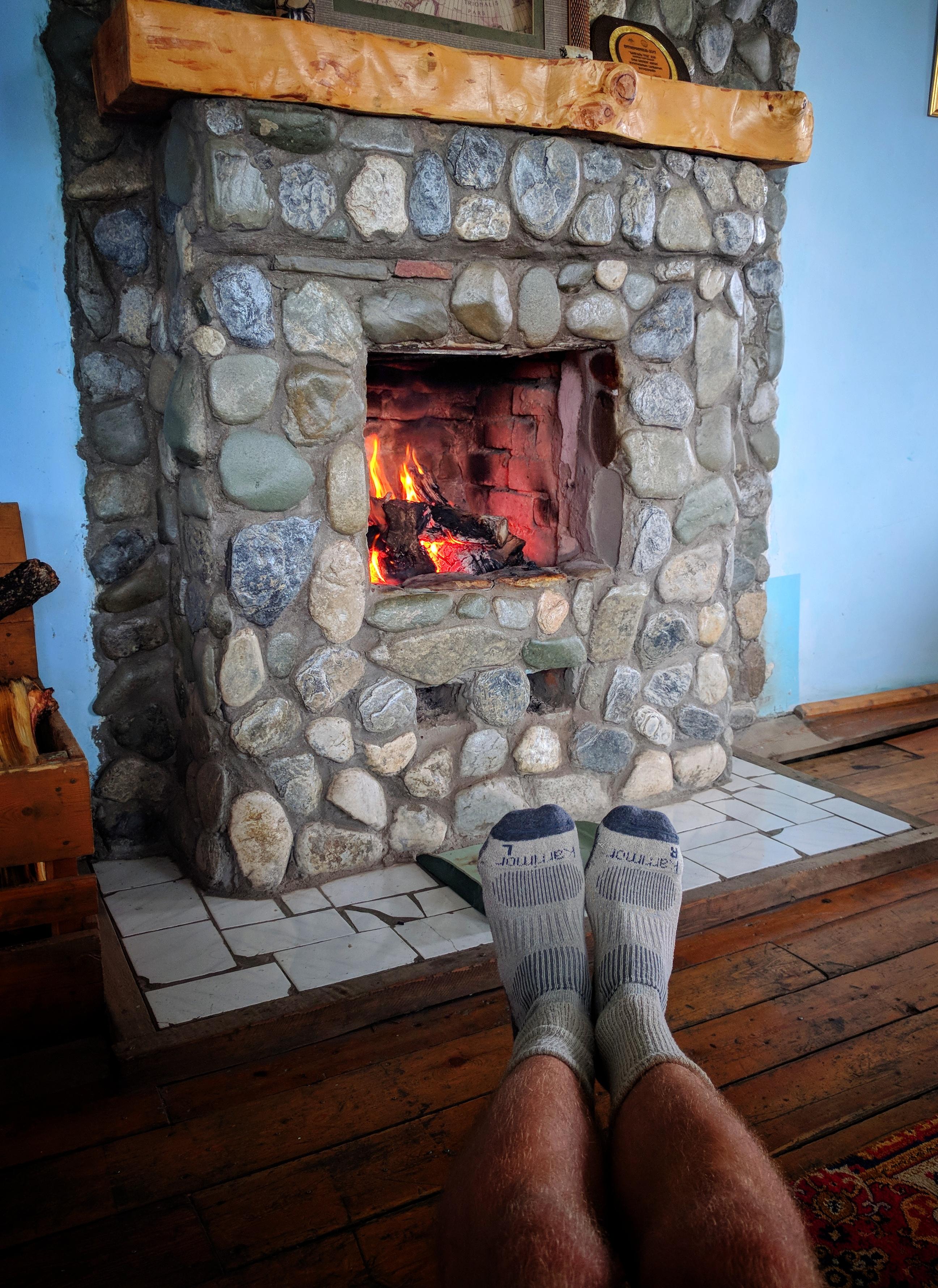 Noordelijk was het direct 10 graden frisser en konden we het vuur goed verdragen...