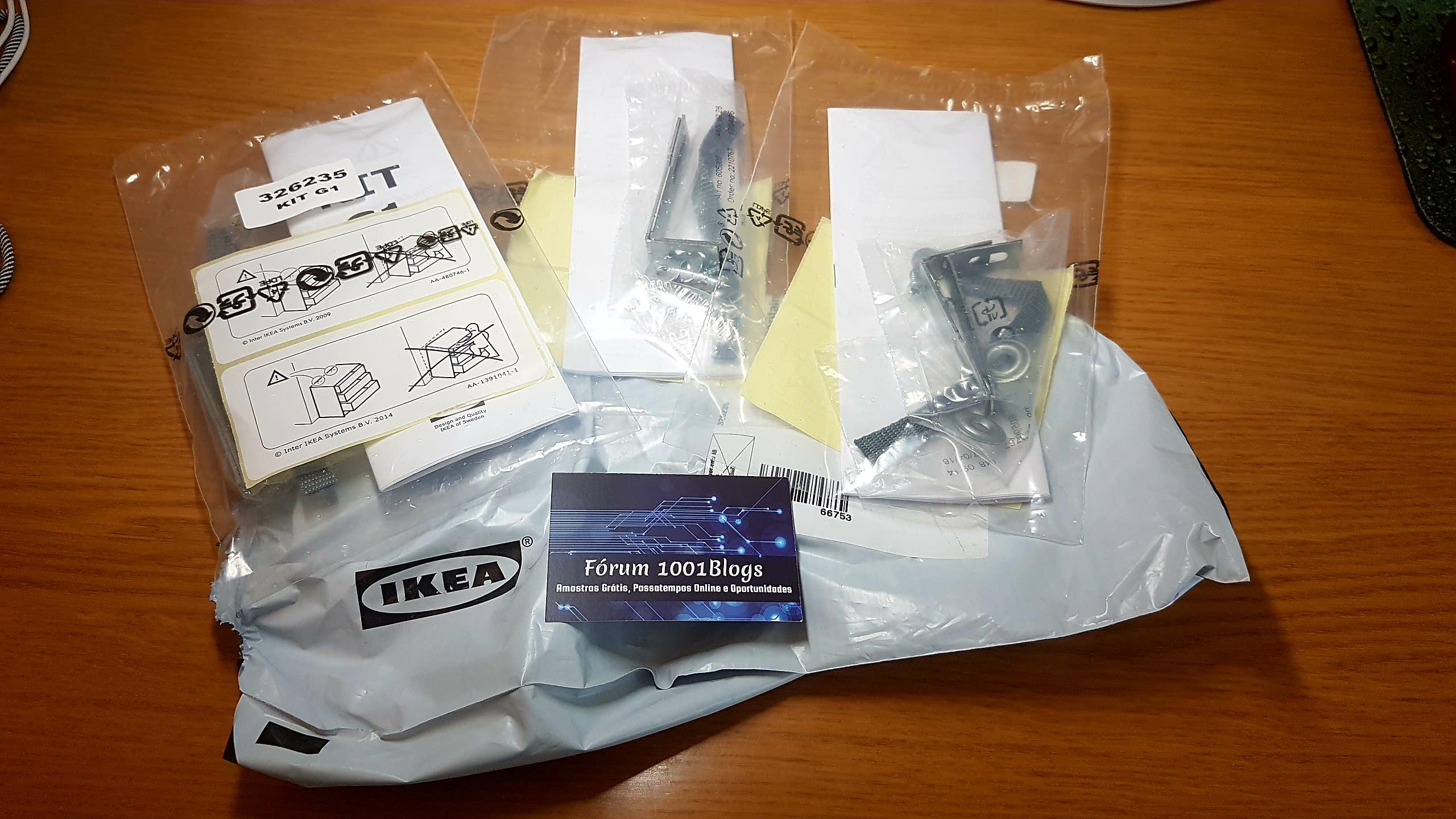 Amostras Ikea- Kit para fixação cómodas para proteger as crianças [Recebido] - Página 2 20161025_103736